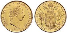 Franz Joseph I Lombardy–Venetia, Sovrano, Milan. Holy Roman Empire, Gold And Silver Coins, Lorraine, Austria, Joseph, Milan, House, Coining, Crests