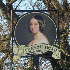 The Queens Head Pub Sign