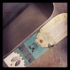 This is a work in progress by jeff Mueller (guitar/vox for shipping news, Rodan, and June of 44) artist at Dexterity Press. This #skateboard deck is for The Dark Slide Spring 2014 #skate #art #show on May 24th at #Eronel 285 Main Street Dubuque Iowa