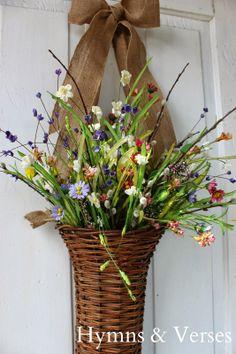 Front Door Spring Basket | Hymns and Verses