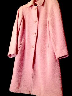 Check out Vintage Beautiful Pink Classic Coat / Med on Threadflip!