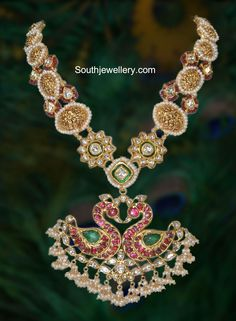 Kundan Haram with Peacock Pendant photo