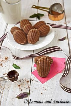 Chocolate Madeleines- perfect for tea time via @Jean | Lemons and Anchovies