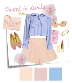 """""""Pastel in details"""" by pwdee on Polyvore featuring Post-It, RED Valentino, Sophie Hulme, Charlotte Olympia, Karen Walker, Cachet, Tory Burch, Marc by Marc Jacobs and Casetify"""