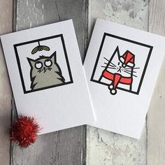 regram @hnmarkets @idrawstupidcats creates hand-printed greetings cards handmade notebooks hand-printed t-shirts and tote bags and Giclée prints featuring her cat illustrations. See Michelle and her cats at our Winter Market!  View our exhibitor line up via our profile link  Handmade Nottingham Market 13th November at @maltcross  #hnmarkets #wintermarket #christmasmarket #Nottingham #cats #Christmascard #shoplocal #justacard #buyhandmade #supportindependent