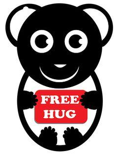 Free Hug, Panda, Baby Panda