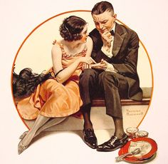 """Norman Rockwell """"Palm Reading"""" (1921)"""