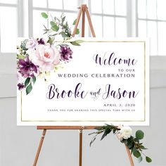 #weddingwelcomesign #welcomeweddingsign #welcomesign #weddingsign #wedding #weddingsigns #floralwelcomesign #weddingdécor #weddingposter #weddingreception #printable #sign #signs #purplewedding #amythest #gorgeous #diywedding #printable #personalized #vintage #violet