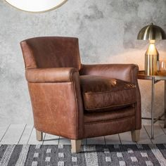 Paddington Chair in Vintage Brown Leather