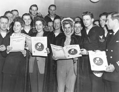 The Andrew Sisters, At The Hollywood Canteen, With Sailors During The Unveiling Of The Song