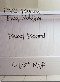 use beadboard and decorative molding to update a plain builder grade bathtub I think you could put tile on instead of bead board and be even more waterproof.