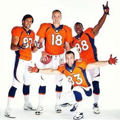Denver Broncos Fantastic Four- Super Bowl Champs!!! Peyton deserves that second ring.