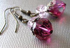 Cute strawberry earrings Handmade jewelry