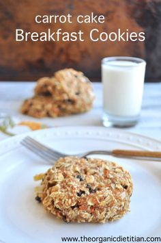 Carrot cake breakfast cookies. Ultimate breakfast on the go. Vegan, gluten free, no sugar, hidden vegetables. www.theorganicdietitian.com