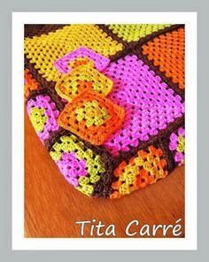quadradinhos em crochet