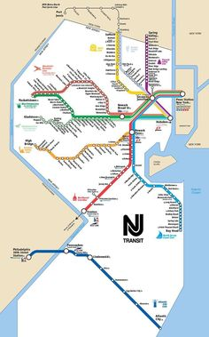 New Jersey Transit rail operations. The only statewide rail system in the United States. Princeton Junction, Train Map, Train Travel, Newark Liberty International Airport, Port Jervis, Work Train, Name Wallpaper, Train Service, Design Graphique