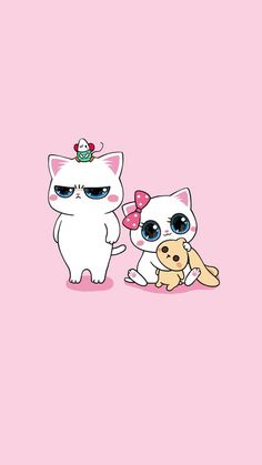 Kitten Wallpaper, Kawaii Wallpaper, Funny Wallpapers, Pink Love, I Love Cats, Freckles, Art Girl, Hello Kitty, Kittens