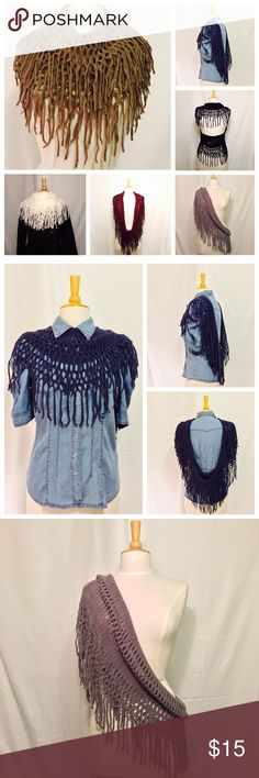 Infinity Fringe Scarf The perfect scarf!!!  Can be worn in multiple ways to fit your personal style. Available in a variety of colors. Details: 100% Acrylic, Super Soft & Durable, Hand Washable Accessories Scarves & Wraps