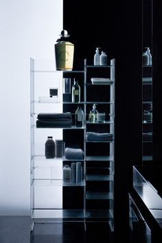 Acrylic bathroom shelving / storage