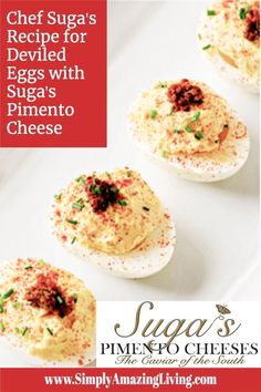 Pimento Cheese Recipes, Cheese Grits, Deviled Eggs Recipe, Egg Recipes, Appetizers For Party, Finger Foods, Yummy Food, Restaurant, Popular