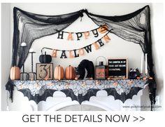 Halloween Fireplace Mantel Decorations
