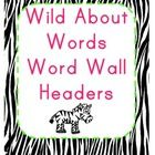 This is a set of Zebra Print Word Wall HeadersIncludes letters Aa - Zz plus some extras!Super Cute and one of a kind!