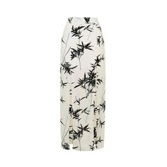 TopShop Bamboo Split Maxi Skirt ($57) ❤ liked on Polyvore featuring skirts, cream, bohemian skirt, cropped cami, polyester maxi skirt, cream camisole and cream maxi skirt