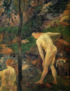 by Paul Gauguin in oil on canvas, done in . Find a fine art print of this Paul Gauguin painting. Paul Gauguin, Tahiti, Henri Matisse, Famous Artists, Great Artists, Impressionist Artists, Bath Girls, Pierre Bonnard, Art Moderne