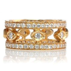 18k gold and diamond Emily ring by Erica Courtney® by hester