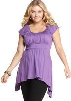 soprano plus size top love this color and style!
