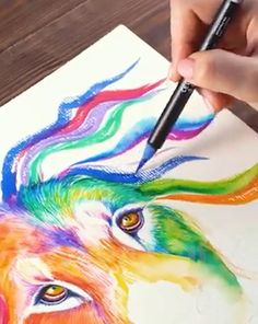 Wow Art, Marker Art, Art Drawings Sketches, Mandala Art, Painting Techniques, Art Tutorials, Painting & Drawing, Amazing Art, Watercolor Paintings