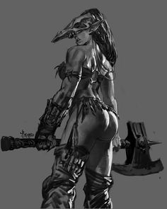 "Female orc bread - ""/tg/ - Traditional Games"" is imageboard for discussing traditional gaming, such as board games and tabletop RPGs. 3d Fantasy, Fantasy Women, Fantasy Girl, Fantasy Artwork, Dark Fantasy, Orc Warrior, Warrior Girl, Fantasy Warrior, Warrior Women"