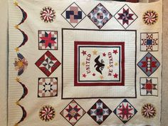 Jenny's beautiful quilt - to be entered in the American Heritage Fiber Arts Contest.