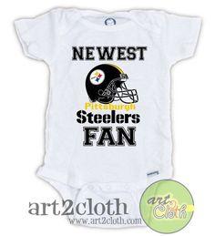 Pittsburgh STEELERS FAN Baby Onesie