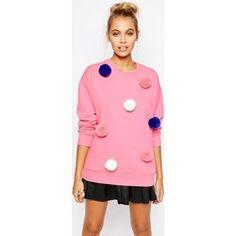 Mini - Maglione color crema con pompon - Rosa asos rosa