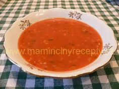 Rajská s ovesnými vločkami Ethnic Recipes, Soups, Food, Essen, Soup, Meals, Yemek, Eten