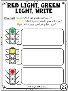 13 Formative Assessments to Use with any Subject, EDUCATİON, Teachers can use this writing stop light activity as a way to see where students understand material and where additional coverage/support may be need. Formative Assessment Strategies, Instructional Strategies, Teaching Strategies, Middle School Classroom, School Fun, Teacher Tools, Teacher Resources, Elementary Education, Education English