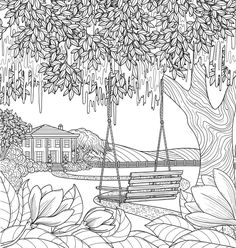 Bless Your Heart Coloring Book: Favorite Southern Sayings Detailed Coloring Pages, Printable Adult Coloring Pages, Cute Coloring Pages, Coloring Sheets, Coloring Books, Buch Design, Drawing Sketches, Line Art, Mandala Art
