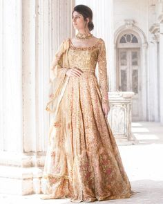When the lights come down to the final draw what will your picture look like? Anarkali Bridal, Pakistani Wedding Dresses, Pakistani Outfits, Indian Outfits, Lehenga Gown, Lengha Choli, Sabyasachi, Sarees, Ethnic Fashion