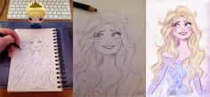 Raiponce by princekido on DeviantArt Art Disney, Disney Magic, Disney Frozen, Disney Movies, Disney Stuff, Disney Sketches, Disney Drawings, Art Drawings, Awesome Drawings