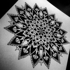 Mandala Designs, nightsisters: Lined and blackened mandala....