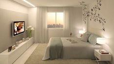 comfortable romantic bedroom decor design and ideas 26 White Bedroom, Master Bedroom, Latifa, Romantic Bedroom Decor, Tiny House Cabin, Modern Bedroom Furniture, Interior Decorating, Interior Design, New Room