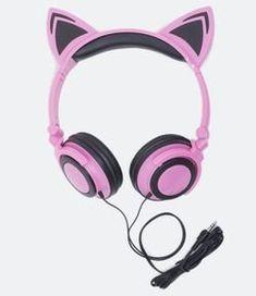 Cat Headphones, Computer Headphones, Girl With Headphones, Bluetooth Headphones, Loudspeaker, Diy For Girls, Phone Accessories, Headset, Amelie
