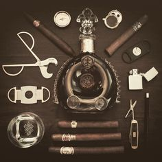 Cigars and accoutrements. For the trophy/cigar lounge.