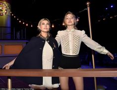 Titanic poses: The nepotistically-privileged, millennial models had no trouble getting into the maritime, nautical spirit of the designer's FW/16 collection