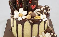 Poker Cake Drip Cake Drippy Torte Schokolade Glanz Glasur