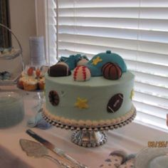 Cutest cake ever for baby boy shower!