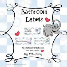 Bathroom Labels Cute