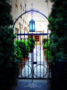 Gate Leading To Courtyard At First Presbyterian Church Macon Georgia
