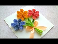 How to Make a Beautiful Card, Mother's Day card, Wedding card, Birthday party card - YouTube